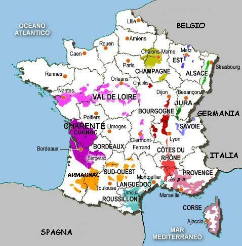 Cartina Della Francia In Bianco E Nero.Vino Italia Enografia Francia